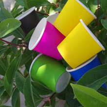 4 Ounces Color Small Paper Cup Tasting Cup Espresso Cup Pure Color 100 Disposable paper Cups