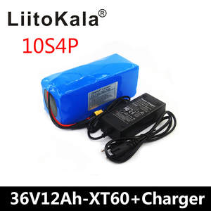 Liitokala Electric-Bike-Battery BMS 36-Volt 12AH with Charge XT60 Pllug 36V Built-In-20a