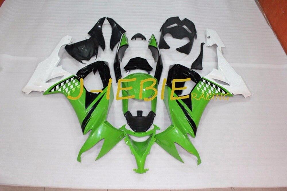 Green black white Injection Fairing Body Work Frame Kit for Kawasaki NINJA ZX10R ZX10 ZX 10 R 2008 2009 2010