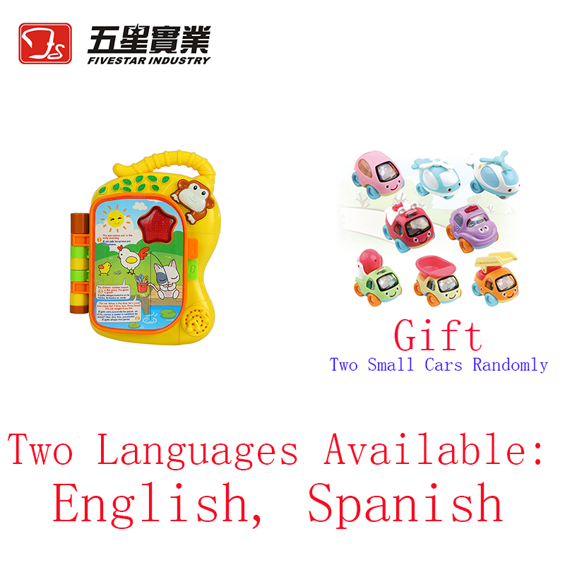 FS TOYS 1 PC 35887 Monkey Learning Book learning toys for children early learning educational english language 13 24 months
