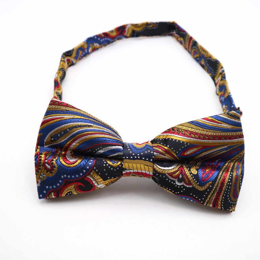 Pria Klasik Bunga Polka Dot Saku Persegi Busur Dasi Set Adjustable Saputangan Dasi Kupu-kupu Set Pernikahan Pesta Dasi Hanky Banyak