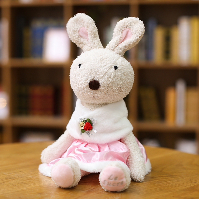 Lovely Rabbit Plush Dolls Bunny Dressing Rabbits Stuffed Animals Soft Toys for Children Girls Kids Baby Birthday Gifts 10 Styles