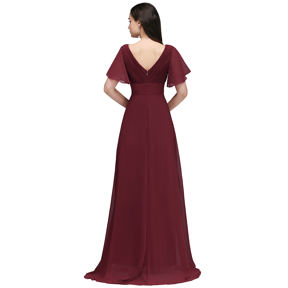 Aliexpress buy 2018 new simple wedding bridesmaid burgundy aliexpress buy 2018 new simple wedding bridesmaid burgundy long bridesmaid dresses chiffon bride formal party dress prom gowns robe de soiree from ombrellifo Gallery