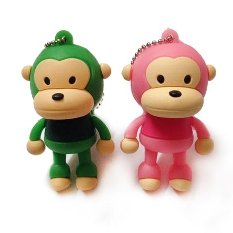 External Storage New Cartoon Cute Monkey Cle Usb Flash Drive 1tb 128gb 16gb 32gb 64gb Memory Stick Pen Drive 2tb Pendrives Usb 3.0 Stick Key Gift