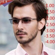 2020 새로운 패션 상업 남자 여자 photochromic 합금 안경 TR90 프레임 완료 선글라스 근시 안경