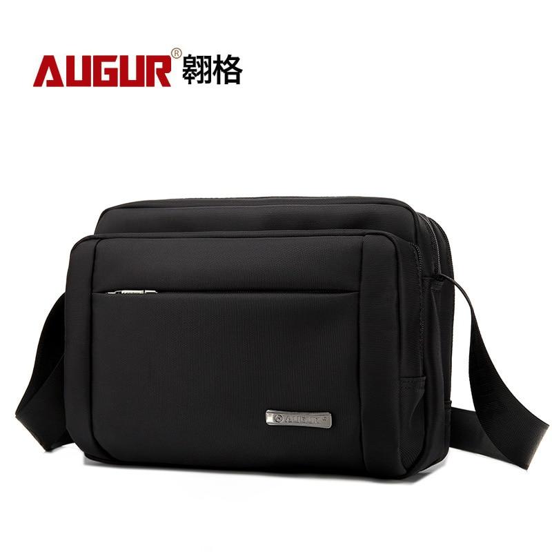 AUGUR Male Vintage Executive Briefcase Bags for Documents Men Small Casual Business Messenger Bag Mens Shoulder Crossbody Bags