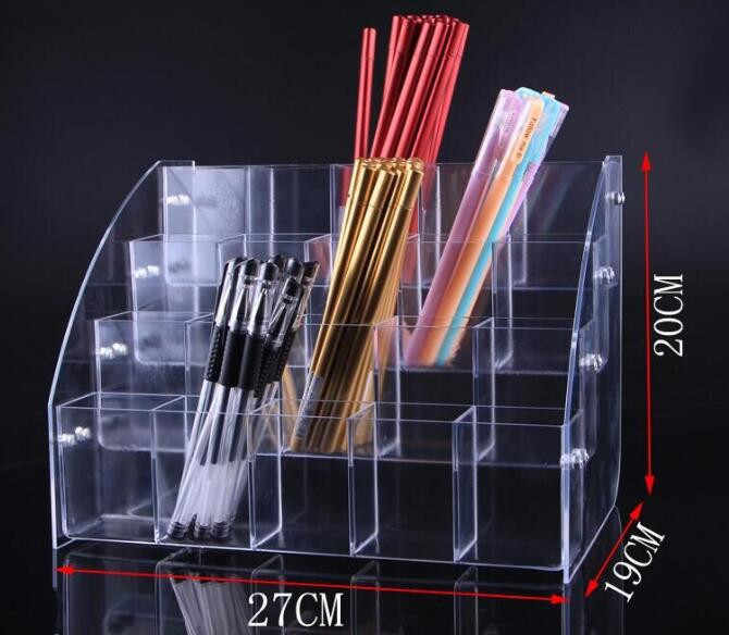 4 Tiers pen display stand Eyeshadow Pencil color Pen box Lipstick Jewelry Display Holder Cosmetics Nail Polish display rack