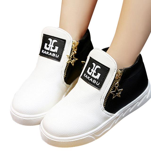 Venta caliente de Los Niños Zapatos de Las Muchachas de La Moda Martin Botas Individuales Bajo Corto Niños Bebés Niñas niños Otoño Zapatos