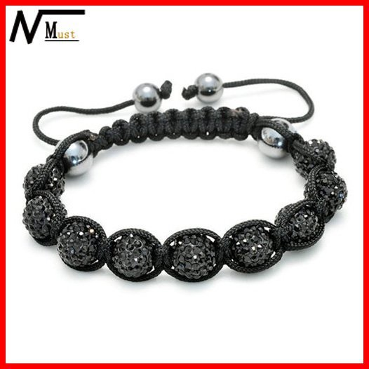 Free Shipping With Wholesale And Retail High Quality Shamballa Beads Crystal Bracelet Men