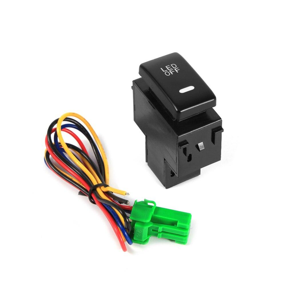 Newest fireproof 12V Car Fog Light Switch Daytime Running Lights Switch For NISSAN Qashqai Juke Tiida Almera