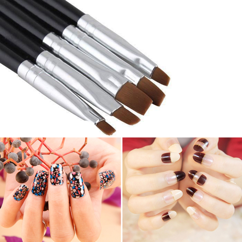 5Pcs/set Nail Brush Acrylic UV GEL Nail Art Design Set Liner ...