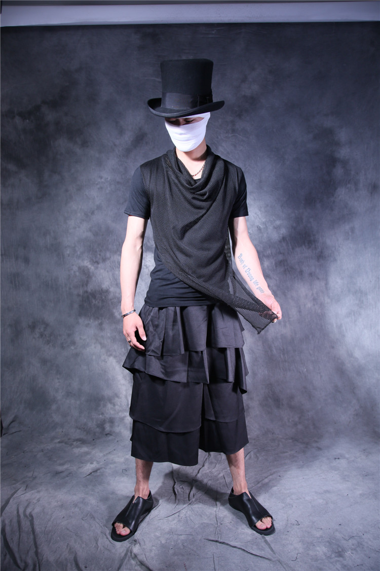 Original design product black summer slim t-shirt personality costumes
