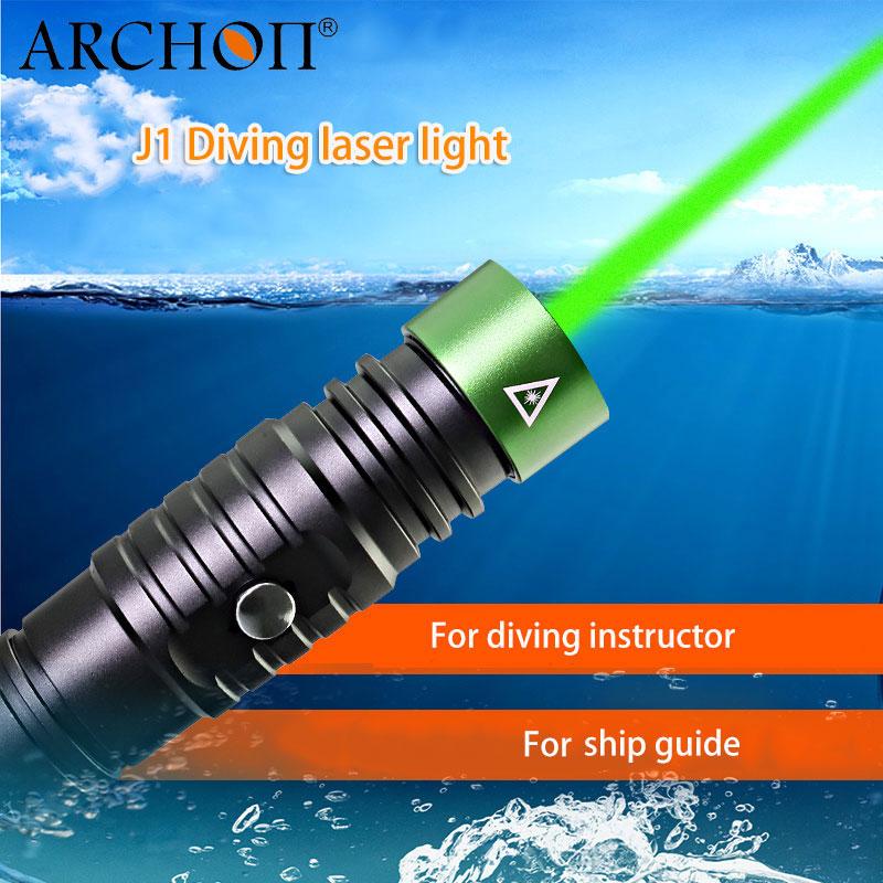 ARCHON J1 pointeur Laser de plongée lampe de poche Laser vert