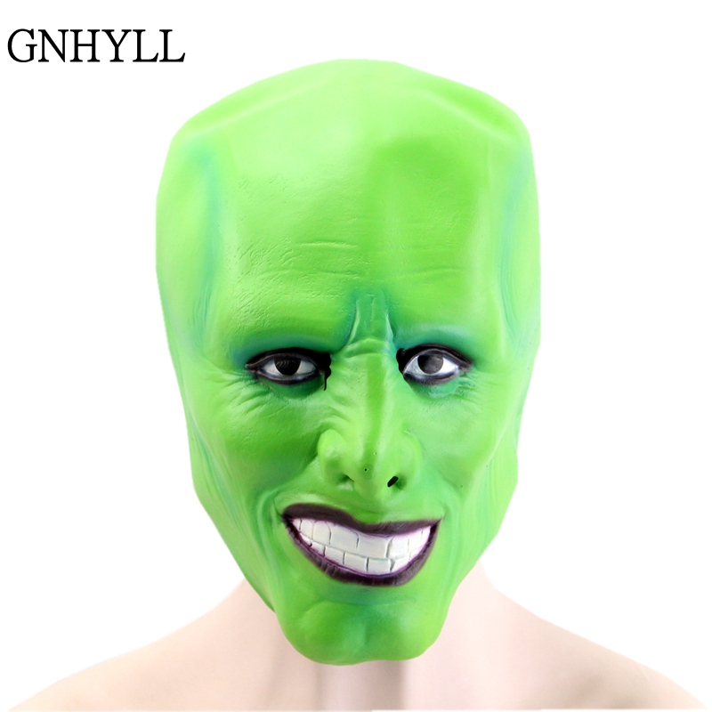 GNHYLL Halloween The Jim Carrey Movies Mask Cosplay Green Mask Costume Adult Fancy Dress Face Halloween Masquerade Party Mask image