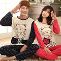 GOPLUS New Autumn Long-sleeve Cartoon Lovers Home Clothing Couples Matching Pajamas Adult  Pajamas 2 Piece Sets Lovers Sleepwear