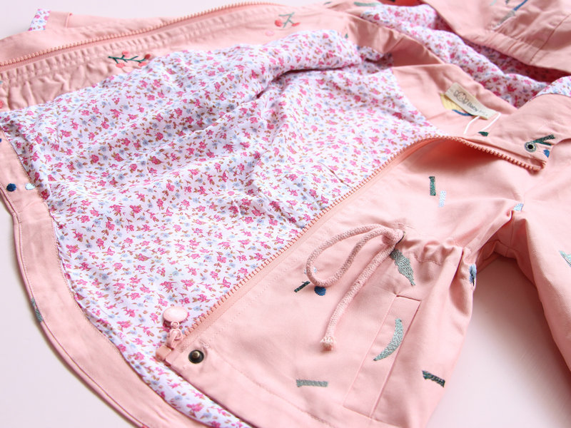 Spring Autumn Girls Casual Jackets hooded Outerwear Fashion Printing Candy Color Windbreaker Children Clothing Cute Girls Coat