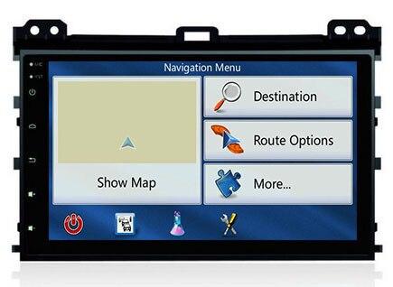 imágenes para 9 pulgadas GPS dvd del coche para Toyota Prado 120 Land Cruiser 120 2004-2009 Quad Core Android 5.1 navegación del coche de radio Bluetooth wifi 3g
