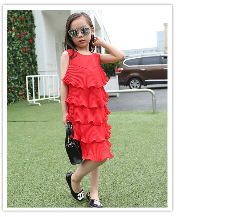 chiffon girls layered dress little teenage kids girl summer dress 2016 white red midi long dresses for girl clothes kids sundress 5 6 7 8 9 10 11 12 13 14 15 16 years old little teenage big girls dresses sleeveless children clothing (5)