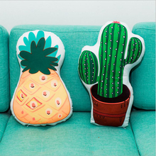 цены Creative Cute Pineapple Cactus Plush Toys Stuffed Doll Toy Soft Plush Pillow Cushion Children Gift Home Gifts