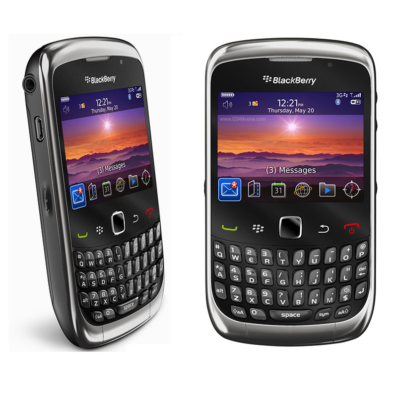 BlackBerry 9300 Curve Refurbished Mobile Phone With QWERTY Keyboard And 1150 mAh Battery