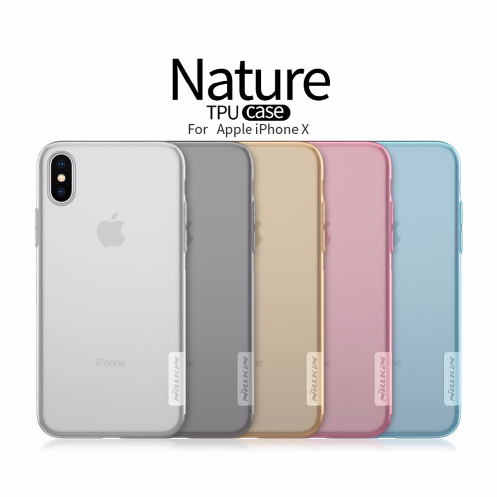 Funda de TPU NILLKIN Ultra Transparent Nature para iPhone 11 Pro Xs Max XR 6 7 8 Plus 5s 5se Funda trasera transparente para iPhone 11