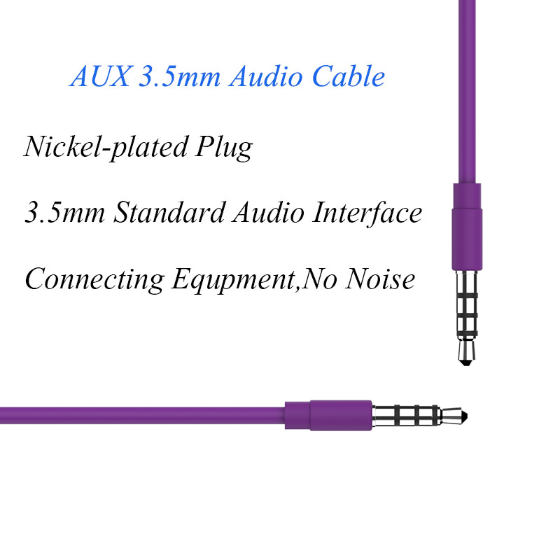 new 3 5mm Audio Jack 3 5 mm 4 Poles Aux Cable for Car Headphone Beats Aux Speaker high quality