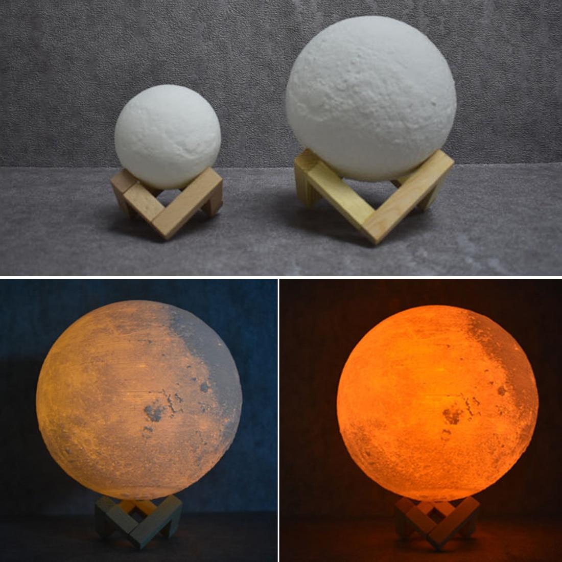 8cm 15cm 3D Print Moon Lamp USB LED Night Light Moonlight Gift Touch Sensor Color Changing Night Lamp Decor 3d print moonlight moonlight lamp led lamp light sensor moonlight moonlight lamp