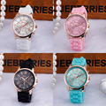 Milky  Women Roman Numerals Silicone Jelly Gel Quartz Analog Wrist Watch Reloj  JAN17