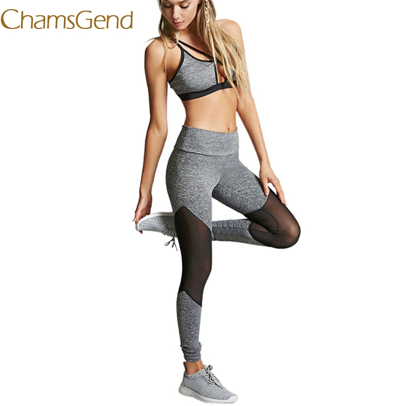 2018 Workout Academy Fitness Leggings Women Drying Trousers High Waist Mesh Slim Women Pants sports Yoga pants #0608