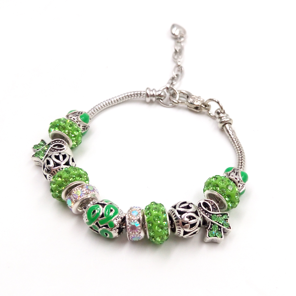 Sue Phil New Charm Bracelet Bangle Women Adjustable Green Blue Chain Bracelet Drop Shipping