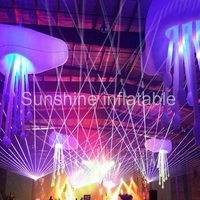 New designed party wedding decorative inflatable jellyfish balloon led decoration inflatable hanging balloon for party event