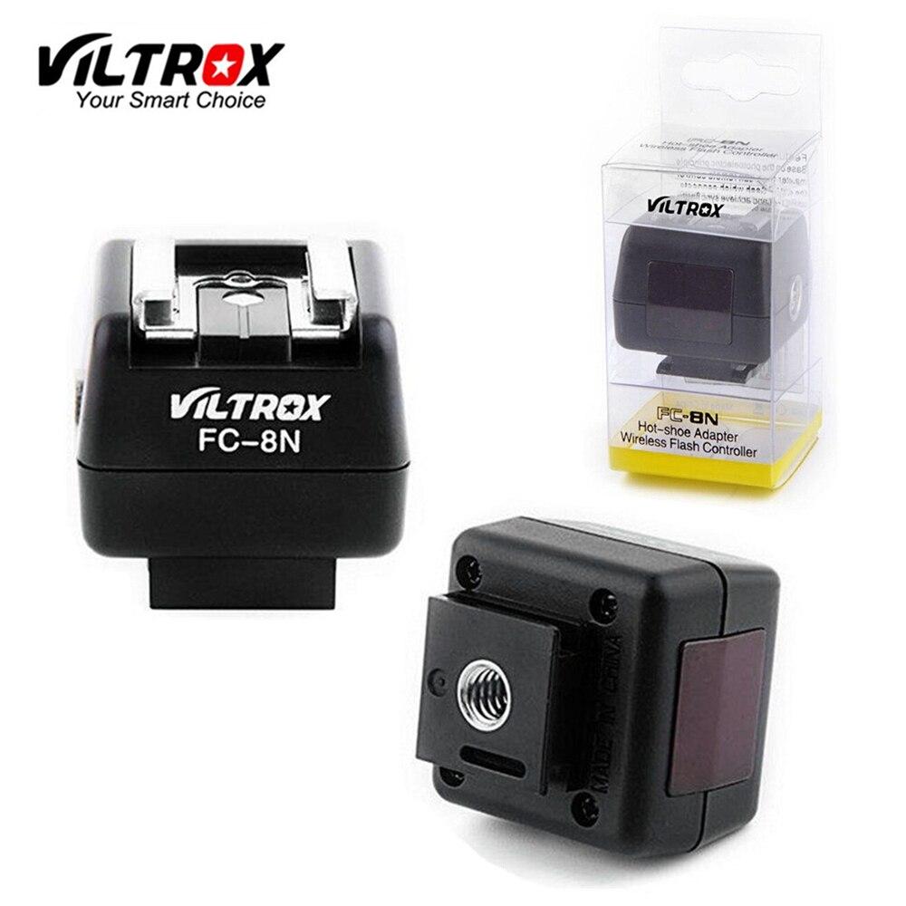 Viltrox FC-8N Wireless HotShoe Adapter Light control flash converter PC Sync Socket for Canon Nikon Pentax Yongnuo oloong flash