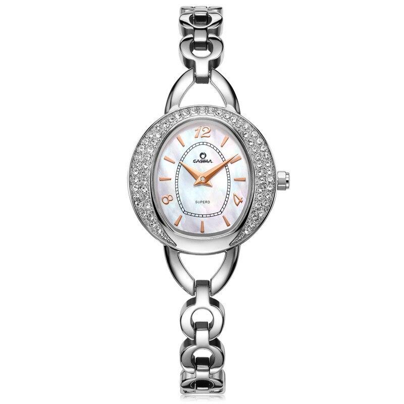 все цены на Luxury Brand Watches Women Fashion Beauty Quartz Watch Stainless Steel Waterproof Quartz Movement 50m CASIMA#2616 онлайн