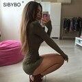 Julissa Mo S-XXL Tallas grandes Mujeres Sexy Vestido 2016 Nueva Otoño del verano del Partido Mini Slim Bodycon Del Vendaje Del Partido de la Camiseta vestidos