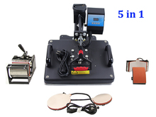 New 30 38CM 5 in 1 Combo Heat Press Machine Thermal Transfer Machine Sublimation Machine for