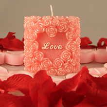 Three-dimensional handmade craft art rose soap candle chocolate mould for love gift
