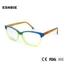ESNBIE 2018 Eyeglasses Frames Women Acetate Square Optical Glasses Frame New Fashion Multi Color Eyewear Woman