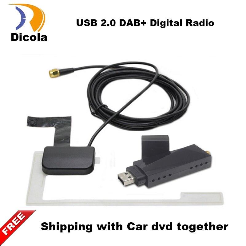 Android DVD De Voiture DAB + Tuner/Boîte USB Numérique Audio Radiodiffusion Récepteur Avec Antenne Fonctionne Pour L'europe