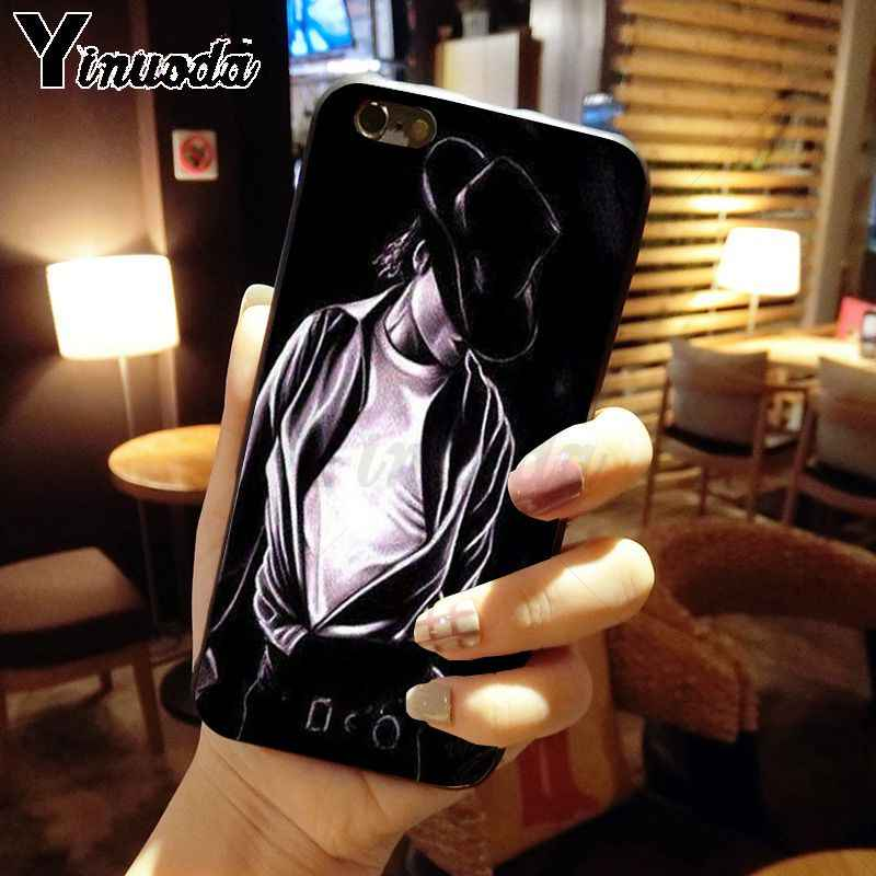 Yinuoda Blijvend Michael Jackson Cover Black Soft Shell Telefoon Case voor iPhone X XS MAX 6 6 s 7 7 plus 8 8 Plus 5 5 S SE XR case