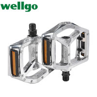 Wellgo B249 DU Bearing Lightweight Aluminum Alloy Pedals Ultralight Mountain Bike Bicycle Genuine Bicycle Pedal