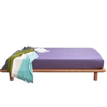 Bonenjoy queen size простыня с эластичной микрофиброй King size Простыня Фиолетовый Цвет Матрас протектор один лист наборы