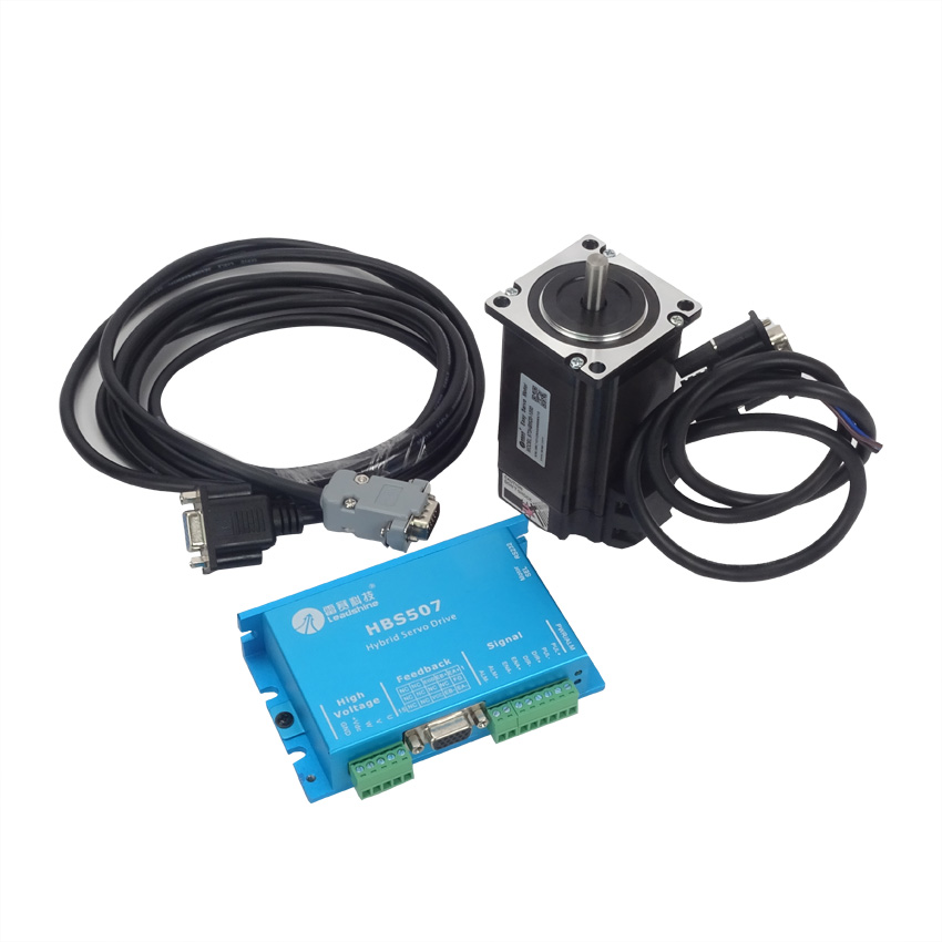 1Set Professional 300W Closed Loop 3-phase Hybrid Servo Drive Kit HBS507 Drive + 573HBM20-1000 Motor 1set professional 300w closed loop 3 phase hybrid servo drive kit hbs507 drive 573hbm20 1000 motor