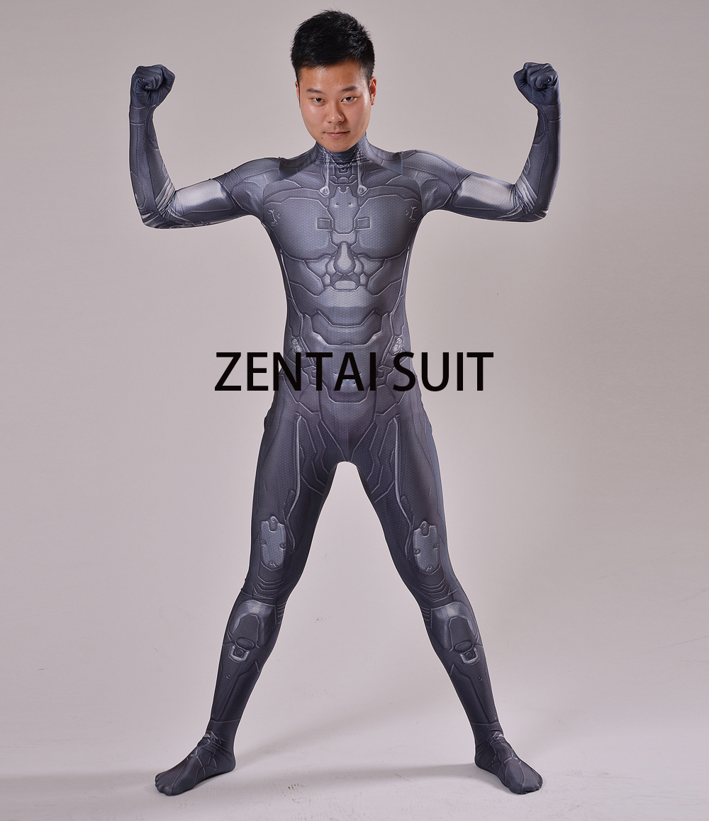 Halo Undersuit Costume 3D Print Spandex Cosplay And Halloween Zentai Suit For Custom Made Adult Kids