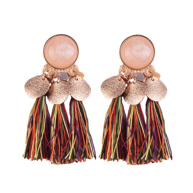 Bohemian Lady Drop Tassel Earrings