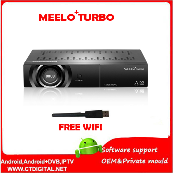 MEELO TURBO DVB-S2/C/T2 linux IPTV Satellite Receiver 7 Segment - 4 Digits Display Processor 256MB Flash 512MB DDR VS MEELO ONE meelo turbo dvb s2 c t2 linux iptv satellite receiver 7 segment 4 digits display processor 256mb flash 512mb ddr vs meelo one