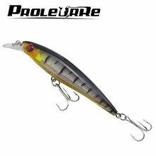 Proleurre 1PCS Floating Minnow Fishing Lure Laser Hard Artificial Bait 3D Eyes 11cm 13.4g Fishing Wobblers Crankbait Minnows