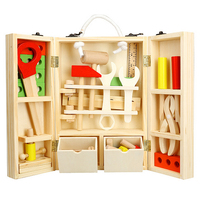 XQ Simulation House Wooden Toolbox Puzzle Children Toy Early Eductional Classic Pretend Play Toys For Children