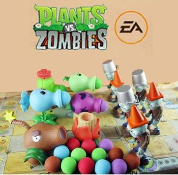 цена на 1 pcs Pvz Building Blocks Toy Set Plants vs. Zombies Figures Action Toys Anime Launch Shooting Toy Gift for Children Peluche