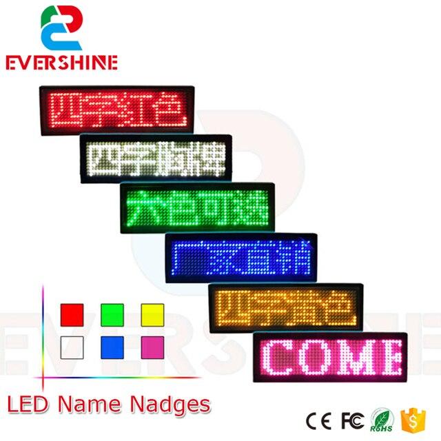 led name badges led name tag programmable moving led message display