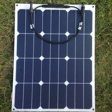 Sunpower Гибкая солнечная панель 40 w; монокристаллическая полугибкая солнечная панель 40 w; солнечная батарея 22.2% эффективность зарядки